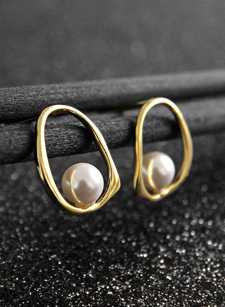 Pear-shaped Pearl Inside-out Earrings